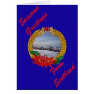 Christmas Garland Greetings card