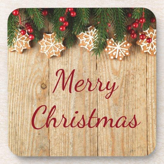 Christmas Garland & Snowflake Cookies Coasters