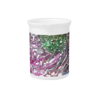 Christmas Garland Sparkle Beverage Pitcher