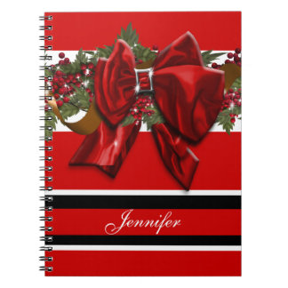 Christmas garland traditional July December Notebook