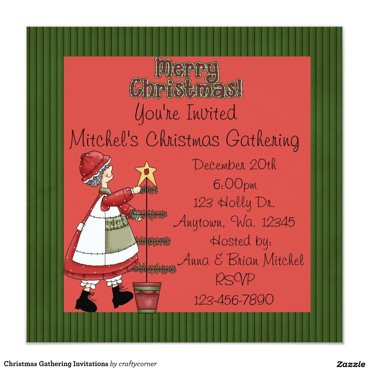 christmas gathering invitations