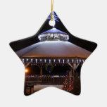 Christmas Gazebo Double-Sided Star Ceramic Christmas Ornament