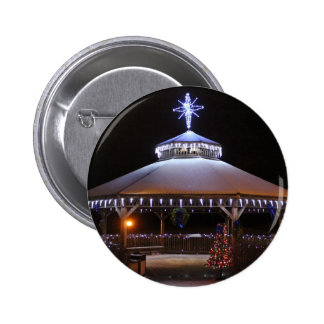 Christmas Gazebo Pinback Button