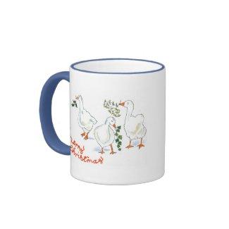 Christmas Geese Ringer Mug mug