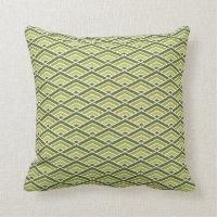 Christmas geometric green pattern throw pillow