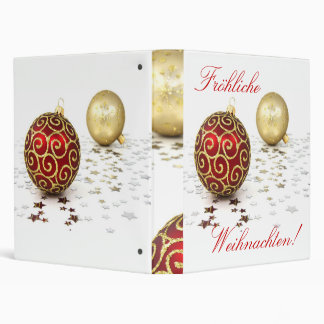 Christmas German Frohliche Weihnachten 3 Ring Binder