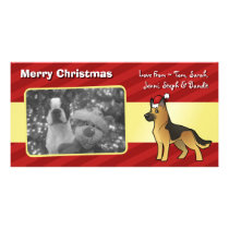 Christmas German Shepherd Card