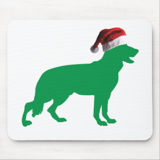 Christmas German Shepherd Mouse Pad