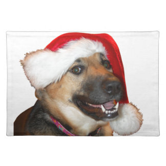Christmas German Shepherd Placemat