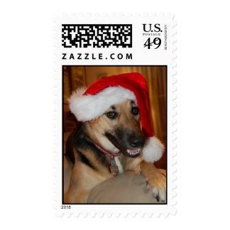 Christmas German Shepherd Postage
