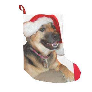 Christmas German Shepherd Small Christmas Stocking