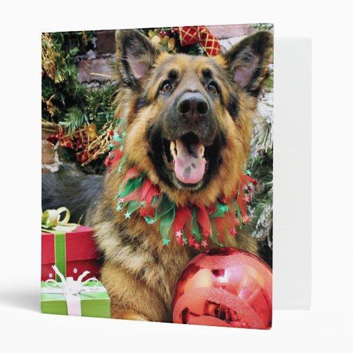 Christmas - German Shepherd - Thor Vinyl Binder