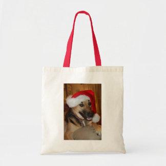 Christmas German Shepherd Tote Bag