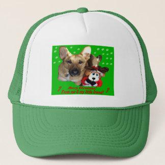 Christmas German Shepherd & Toy Reindeer Trucker Hat