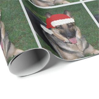 Christmas German Shepherd Wrapping Paper