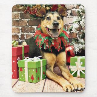 Christmas - German Shepherd X - Bailey Mouse Pad