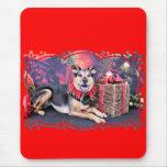 Christmas - German Shepherd X - Bailey Mousepads