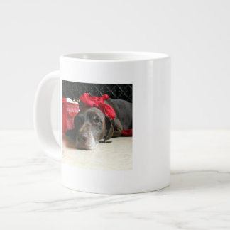 Christmas german shorthaired pointer 20 oz large ceramic coffee mug