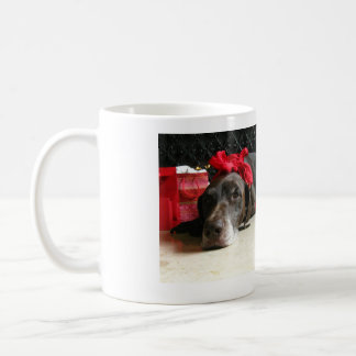 Christmas german shorthaired pointer coffee mug