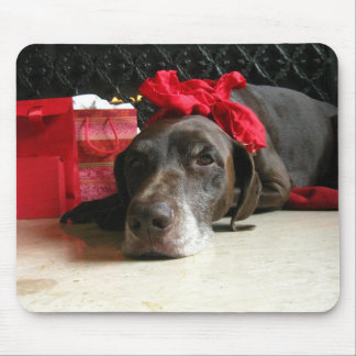 Christmas german shorthaired pointer mouse pad