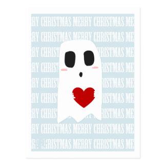 christmas ghost postcard