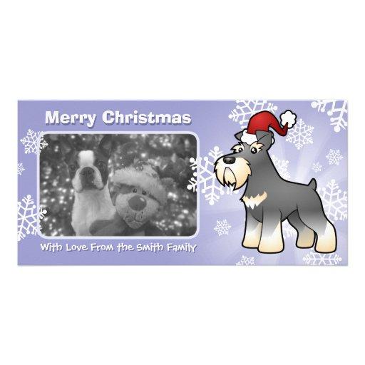 Christmas Giant/Standard/Miniature Schnauzer Custom Photo Card