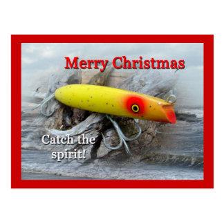 Christmas Gibbs Darter Vintage Saltwater Lure Postcard