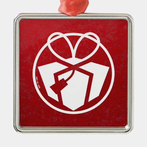 Christmas gift avatar metal ornament zazzle