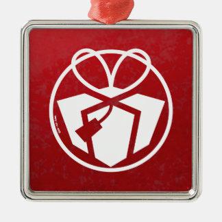 Christmas Gift Avatar Square Metal Christmas Ornament