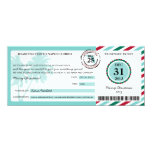 Christmas Gift Boarding Pass to Florida 4x9.25 Paper Invitation Card