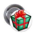 Christmas Gift Box 2 Inch Round Button