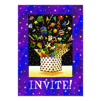 Christmas Gift Box 5x7 Paper Invitation Card
