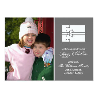 Christmas Gift Box Card (Happy Christmas Gray)