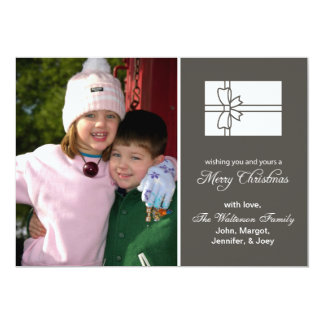 Christmas Gift Box Card (Merry Christmas Gray)