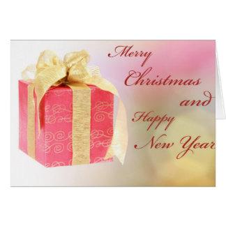 Christmas gift box greeting card