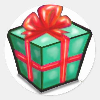 Christmas Gift Box Sticker