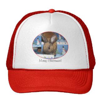 Christmas Gift Bunny Happy Holidays Trucker Hat