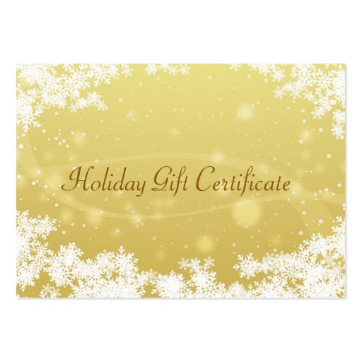 Christmas t certificate large business cards Pack of