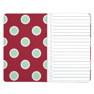 Christmas Gift Checklist Polka Dot Pocket Journal