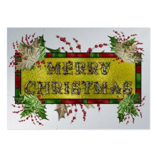 Christmas Gift Christmas Enclosure Card / Tag Large Business Cards (Pack Of 100)