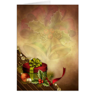 Christmas Gift Decor Greeting Card