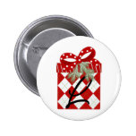 Christmas Gift Initial  L Pinback Buttons