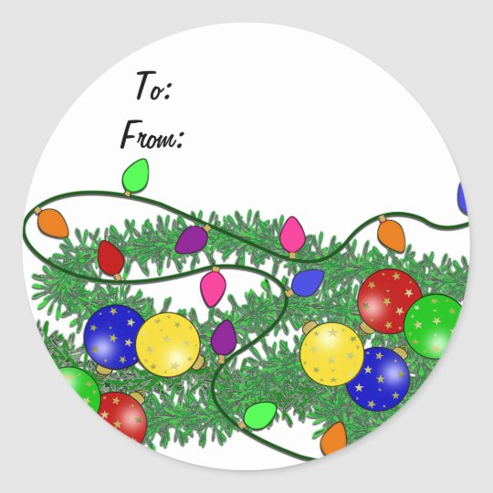 Christmas Gift Label Sticker