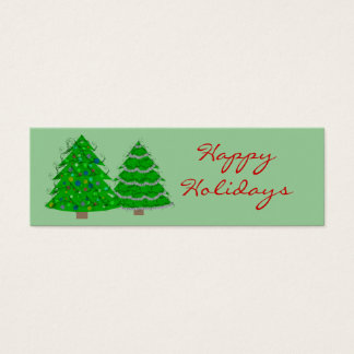 Christmas Gift Labels Mini Business Card
