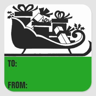 Christmas gift labels sticker