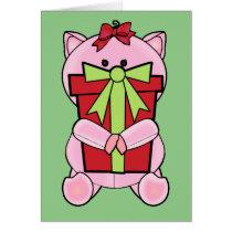 Christmas Gift Pig Card