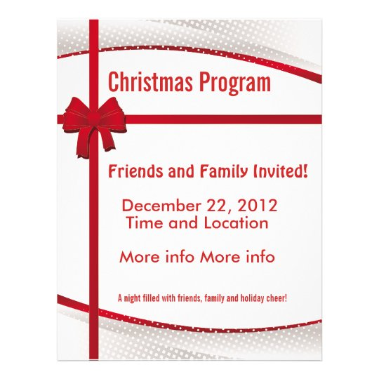 christmas gift program flyer zazzle com