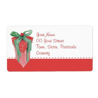 Christmas Gift Shipping Label label