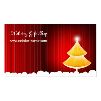 Christmas Gift Shop Card Business Card