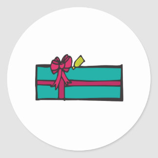 Christmas Gift Classic Round Sticker